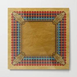 Egyptian Revival / Art Deco Pattern Metal Print