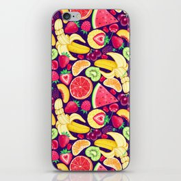 Fruit Cocktail on Blue iPhone Skin
