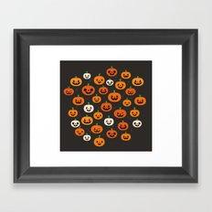 Jack-o-lanterns Framed Art Print