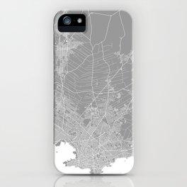 Mackay map grey australia iPhone Case
