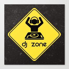 DJ Zone Rave Quote Canvas Print