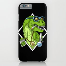 T-Rex Dinosaur Weed iPhone Case