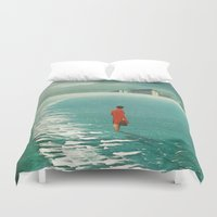 cities Duvet Covers featuring Waiting For The Cities To Fade Out by Frank Moth