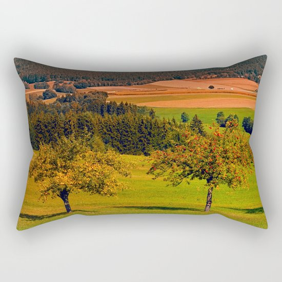 Two rival trees Rectangular Pillow
