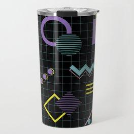 Memphis Pattern 4 - 80s Retro Travel Mug