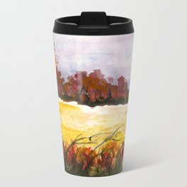 Whispering Grove, Watercolor Landscape Art Travel Mug