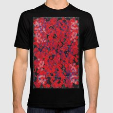 Dissemination / Pattern #4 MEDIUM Black Mens Fitted Tee