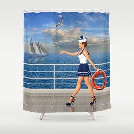 Maretimchen wants to help Shower Curtain