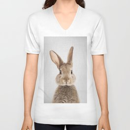 Rabbit - Colorful Unisex V-Ausschnitt