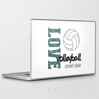 volleyball Laptop & iPad Skins featuring Love Volleyball Street Style by raineon