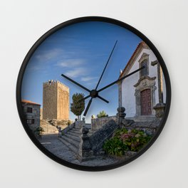 Linhares castle, Portugal Wall Clock