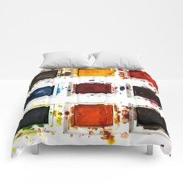 Watercolor palette Comforters