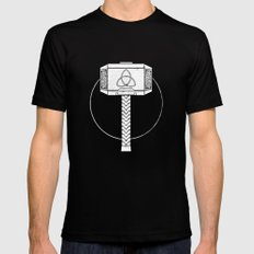 THOR! LARGE Black Mens Fitted Tee