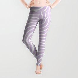 Whiskers Light Purple & White #713 Leggings
