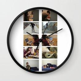 Pompom Day Wall Clock