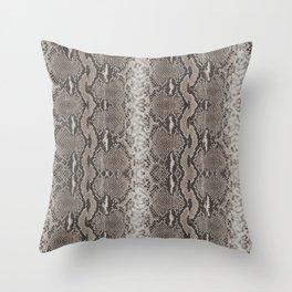 Python Snakeskin Print Throw Pillow