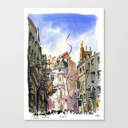 Diagon Alley, Universal Studios Canvas Print