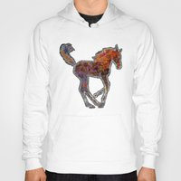 pony Hoodies featuring Pony by evisionarts