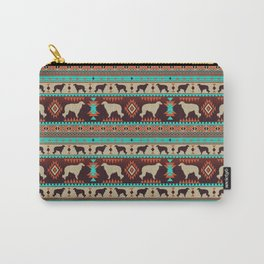 Boho dogs | Borzoi / Russian wolfhound sunset Carry-All Pouch