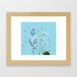 Kentucky Wildflowers and Pretty Bugs Framed Art Print