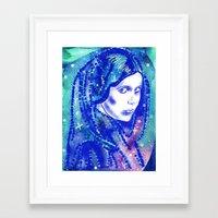 princess leia Framed Art Prints featuring Princess Leia by grapeloverarts