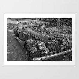 Classic convertible sports car Art Print