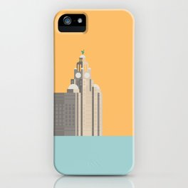 Liverpool Liver Building Print iPhone Case