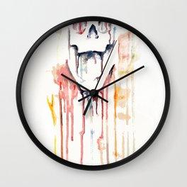 skull drips  Wall Clock