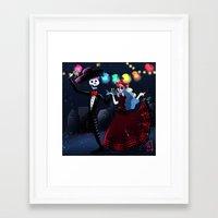 dia de los muertos Framed Art Prints featuring Dia de los muertos by Lenore2411
