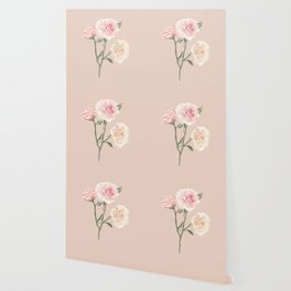 Vintage Watercolor Rose Blush Tones Wallpaper