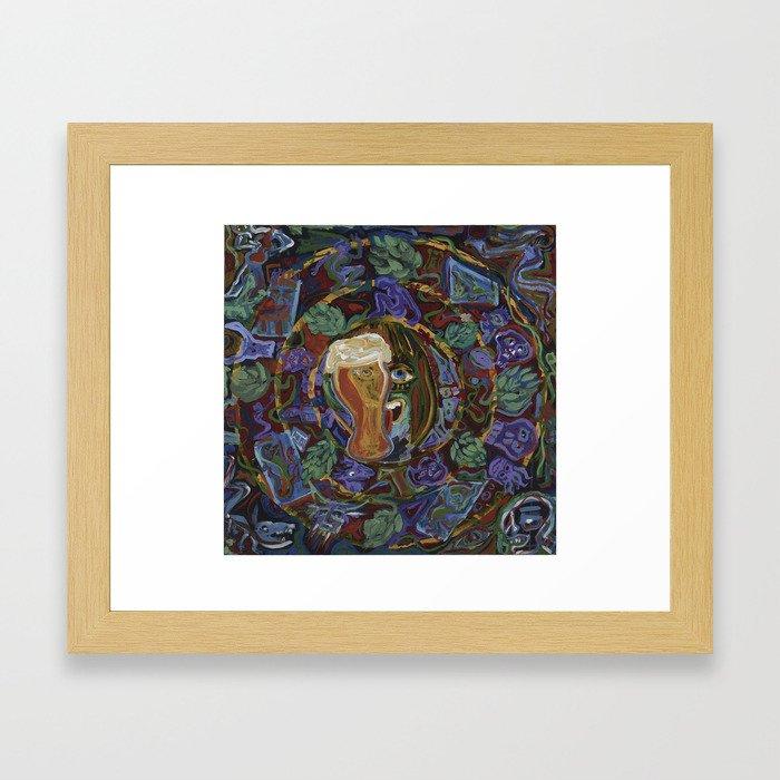 Aztec Beer Framed Art Print