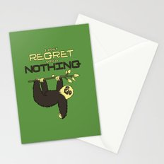 I Don't Regret Doing Nothing Lazy Sloth T-shirt Stationery Cards
