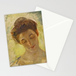 Mary Cassatt 1844 - 1926 STUDY OF MOTHER JEANNE'S HEAD, LOOKING DOWN Stationery Cards