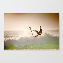 Dane Reynolds, Surfing during world tour of surf Canvas Print