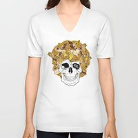 afro V-neck T-shirts featuring Afro by dogooder