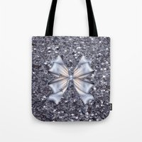 silver Tote Bags featuring Silver by Elena Indolfi