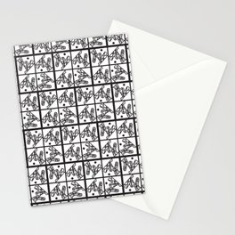 neo-cubist forms Stationery Cards