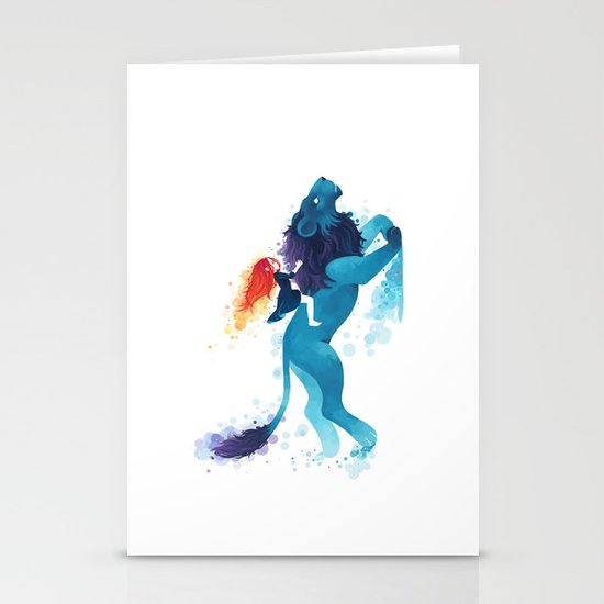 Lion Rider Stationery Cards