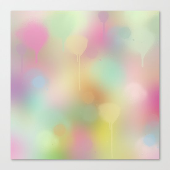 Soft pastel watercolour abstract Canvas Print
