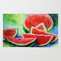 watermelon Area & Throw Rugs featuring watermelon by OLHADARCHUK