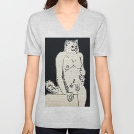 Cat Woman Unisex V-Neck