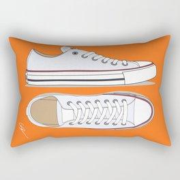 All Star White-orange Rectangular Pillow