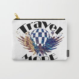 Travel More text Carry-All Pouch