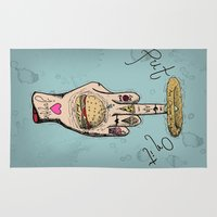 junk food Area & Throw Rugs featuring Food Junkie by A+A Noisome Art