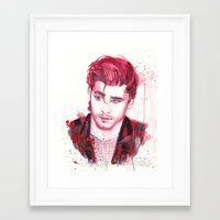 zayn malik Framed Art Prints featuring Zayn Malik by WaterLyrics