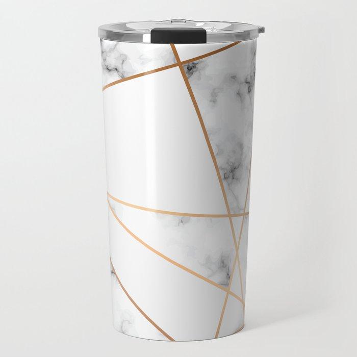 Marble Geometry 054 Travel Mug