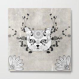 Wonderful sugar cat skull Metal Print