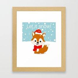 Let it Snow! Framed Art Print