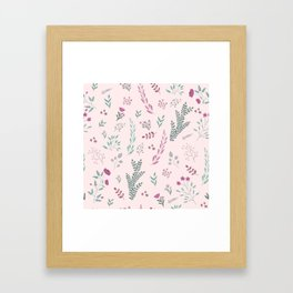 Floreal pattern Framed Art Print