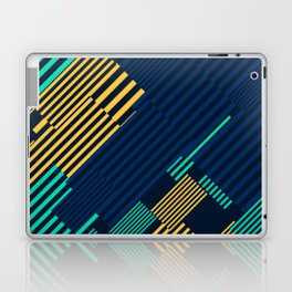 Green and Gold Linear Pattern Laptop & iPad Skin
